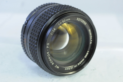 【B】ミノルタ MINOLTA MD ROKKOR-PG 50mm F1.4