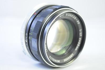 【C】ミノルタ MINOLTA MC ROKKOR-PF 55mm F1.7