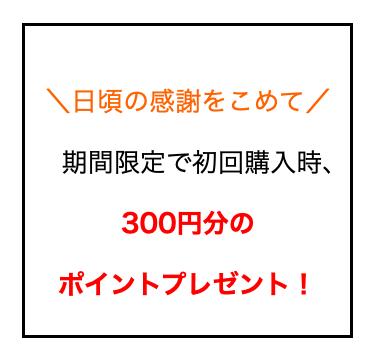300円OFFポイント