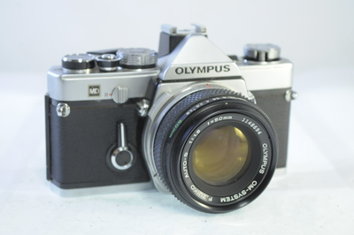 【C】オリンパス OLYMPUS OM-1 ボディ+50mm F1.8 シャッター全速・露出計完動