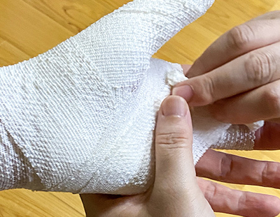 医療用伸縮包帯 のびる包帯3m〜9m(最大伸長)