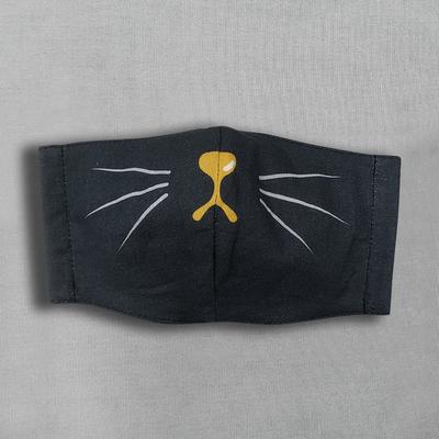【水野染工場】動物マスク 黒猫