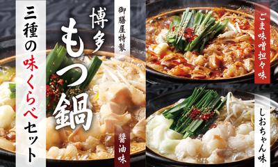 【お得セット】博多もつ鍋 3種味くらべセット(5~6人前用×3種)