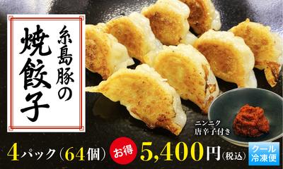 ☆お得なまとめ買い☆糸島豚の焼餃子 64個入り