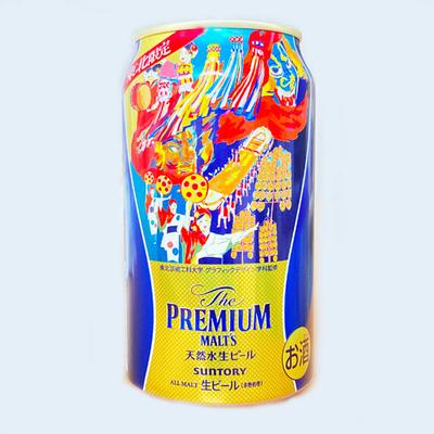 サントリー ザ・プレミアムモルツ 東北祭デザイン缶 350ml