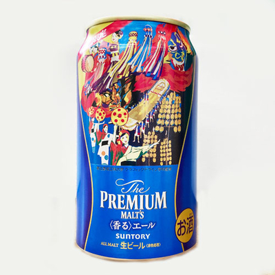 サントリー ザ・プレミアムモルツ香るエール 東北祭デザイン缶 350ml