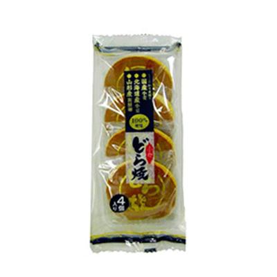 たんばや製菓 北海道小豆使用 どら焼 4個入り