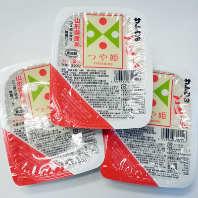 サトウのごはん 山形県産米つや姫 ガス直火炊き無菌パック 1箱(200g×3P×12)