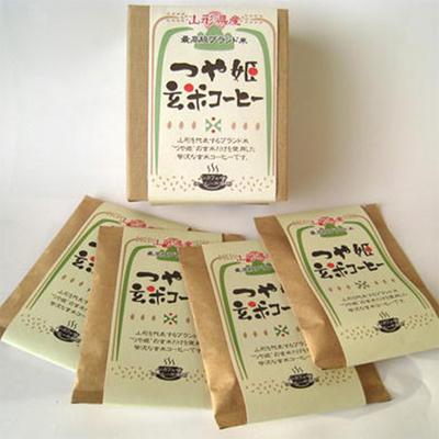 山形県産 つや姫玄米コーヒー ドリップ式15g×4杯
