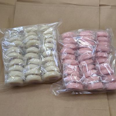 梅木もち加工所 イベント用 紅白もち 30個×2種(約2.7kg)(山形県庄内産でわのもち使用)