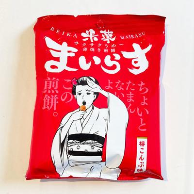 酒田米菓 まいらす 梅こんぶ味