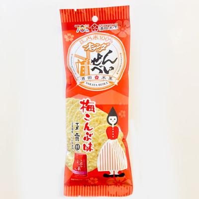 酒田米菓 オランダせんべい梅こんぶ味 48g