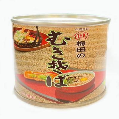 梅田食品 むきそば 缶詰 小225g