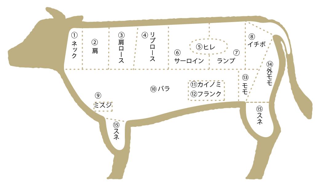 松阪牛 部位図鑑