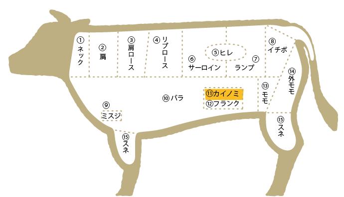 松阪牛 部位図鑑 カイノミ