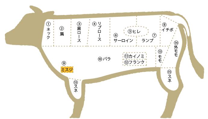 松阪肉 部位図鑑 ミスジ