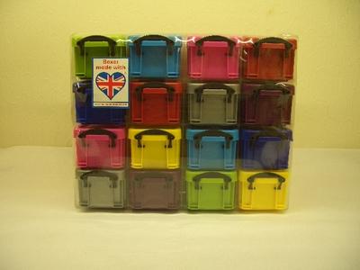 小物収納 コンテナBOX (16 BOX (8色x各2個))