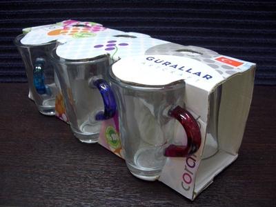 Coral ティーグラス・6色アソート (6個セット)