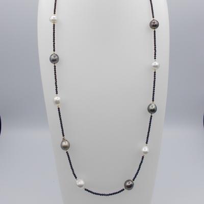 南洋真珠9-13㎜/タヒチ真珠/スピネル/K18ミラーボール2㎜