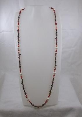 トルマリンさざれ/海竹サンゴ2×5.5㎜/淡水真珠大:9.5×7.5㎜・小:9×7㎜