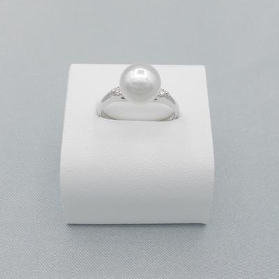 Pt900/真珠8ミリ/ダイヤ0.06ct