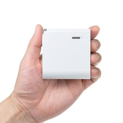 サンワサプライ AC充電器一体型モバイルバッテリー BTL-RDC17W コンセントから直接充電できるAC充電器が一体になったモバイルバッテリー 当社エリア内配送料無料