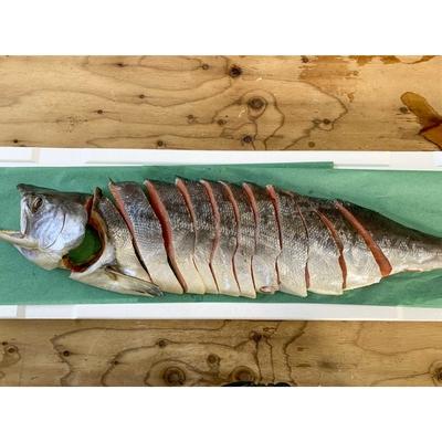 たかのり海産の寒風干新巻鮭姿切り半身