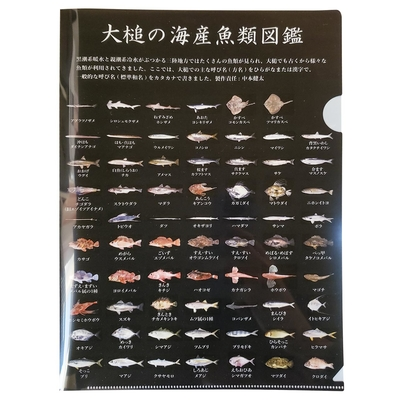 あぶらめ丸の大槌お魚クリアファイル(A4)