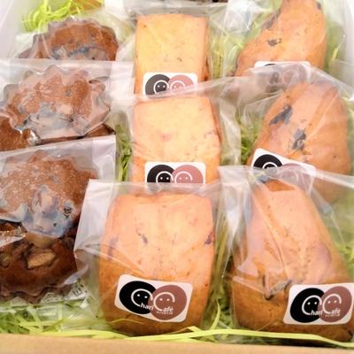 チャリカフェのスコーンと郷土菓子「がんづぎ」のセット