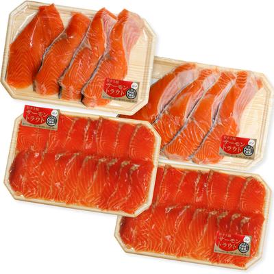 魚よしの大槌産トラウトサーモン切身&刺身