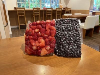 【お楽しMIX】冷凍いちご900g×2袋&冷凍ブルーベリー500g×1袋 計2.3kg