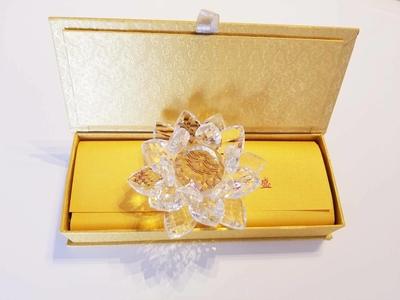 【大】ご祈願蓮の花クリスタルお香セット(浄化おすすめセット)