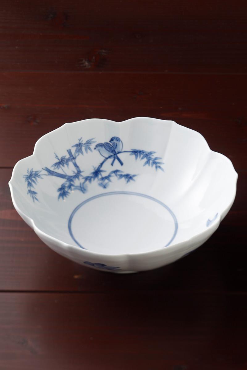 嘉久正窯:現代の代表作品:花形鉢竹雀