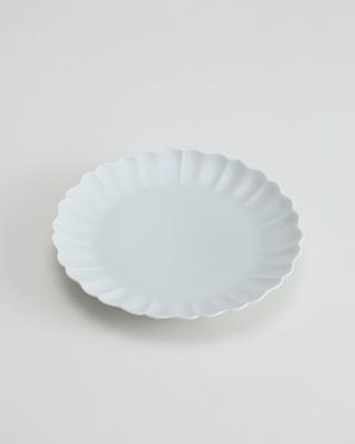白磁 波渕皿[はくじ なみふちざら]