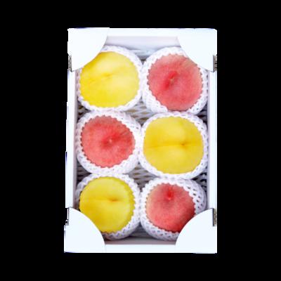 山形の桃 白桃・黄桃2kg セット
