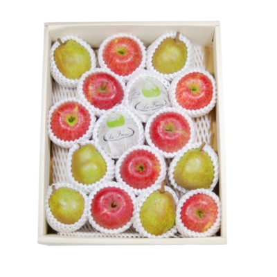 ラ・フランス&ふじりんご 詰合せ化粧箱 5kg