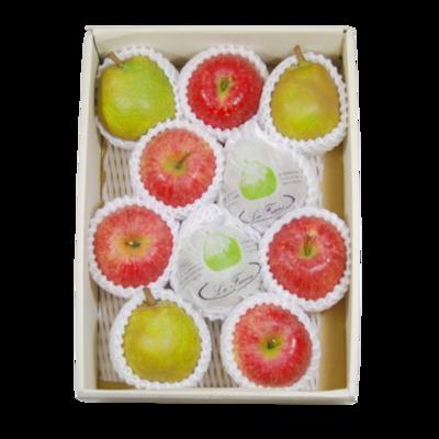 ラ・フランス&ふじりんご 詰合せ化粧箱 3kg