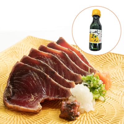 一本釣り藁焼き戻り鰹たたき3kg【和歌山県北山村産じゃばらぽん酢入り】