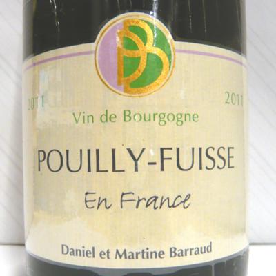 プイィ・フュイッセ アン・フランス 2011 ダニエル・バロー