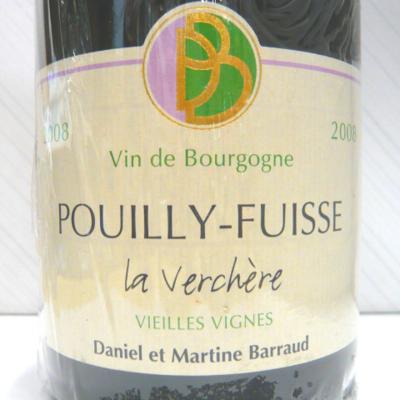 プイィ・フュイッセ ラ・ヴェルシェール V.V 2008 ダニエル・バロー