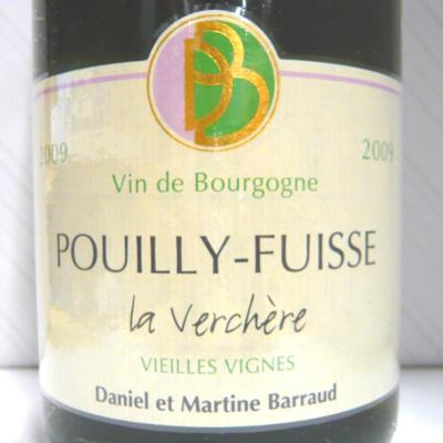プイィ・フュイッセ ラ・ヴェルシェール V.V 2009 ダニエル・バロー