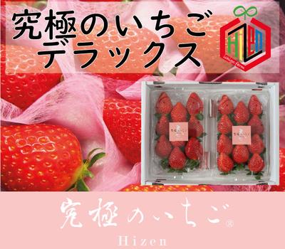 【究極のいちご Hizen】デラックス〜春バージョン〜1箱(2パック入り)【送料込み】