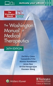 Washington Manual of Medical Therapeutics  36th Ed.**9781975113483/Wolters Kl/Zachary Cr/978-1-975**