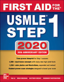 First Aid for the USMLE Step1 2020**McGraw-Hill/Tao Le/9781260462043**