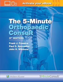 5-Minute Orthopaedic Consult 3rd Ed.**Wolters Kluwer/Frank J.Frassica/9781496360632**