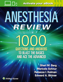 Anesthesia Review**Wolters Kluwer/Sheri M.Berg/9781496383501**