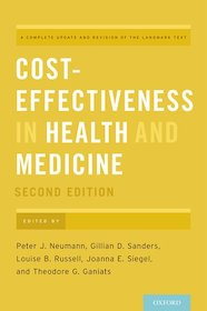 Cost-Effectiveness in Health and Medicine**9780190492939/Oxford Uni/Peter J.Ne/9780190492939**