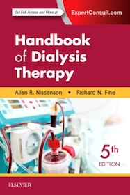 Handbook of Dialysis Therapy  5th Ed.**9780323391542/Elsevier/Allen R.Ni/978-0-323-39154-2**