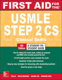 First Aid for the USMLE STEP 2 CS**9781259862441/McGraw-Hil/Tao Le/978-1-25-986244-1**