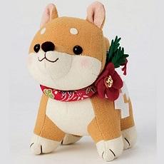 PA-755 福招き犬(茶柴)
